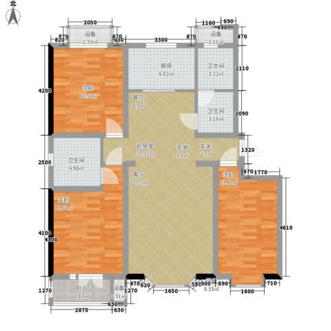 火星七片3室0厅3卫1厨98.62㎡户型图
