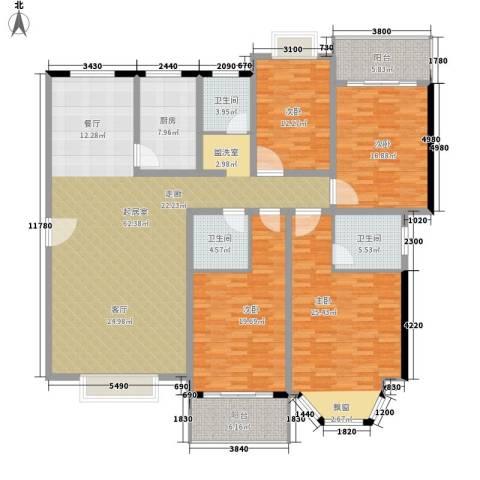 京电花园4室0厅3卫1厨191.00㎡户型图