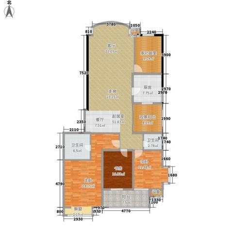 向阳门第3室0厅2卫1厨167.00㎡户型图