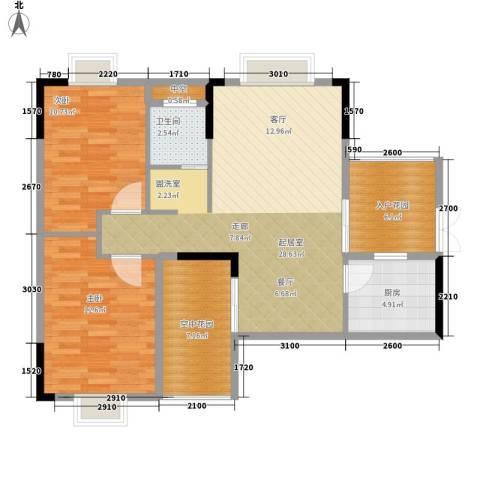 鑫远逸园2室0厅1卫1厨89.00㎡户型图
