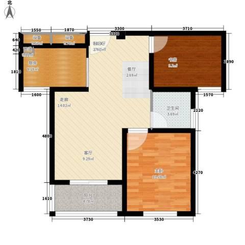 嘉业・阳光城2室1厅1卫1厨78.00㎡户型图