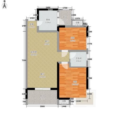 建丰公寓2室0厅1卫1厨102.00㎡户型图