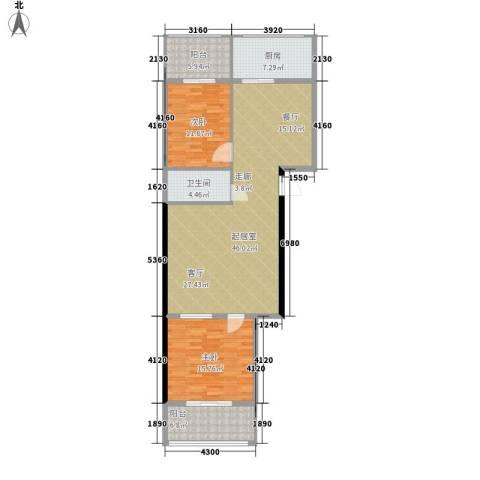 金石鑫小区2室0厅1卫1厨109.00㎡户型图
