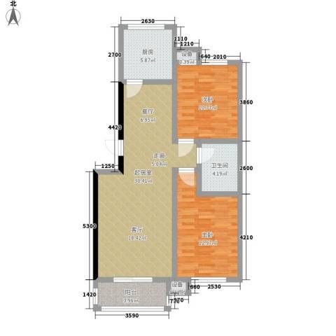 康宁家园2室0厅1卫1厨94.00㎡户型图