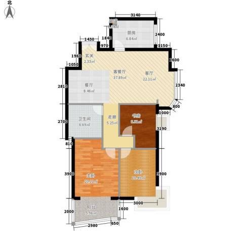 世纪佳园3室1厅1卫1厨118.00㎡户型图