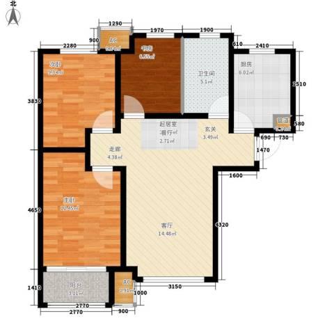 香邑廊桥3室0厅1卫1厨97.00㎡户型图