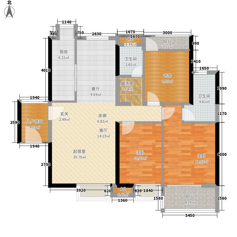 联发杏林湾一号127.00㎡X3户型6室3厅