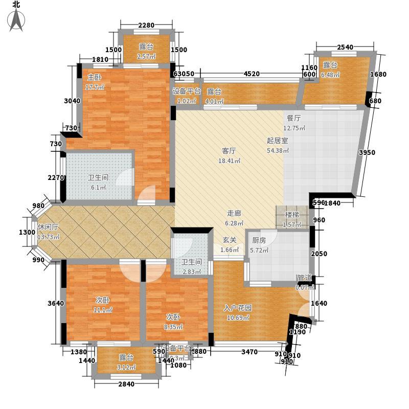 旭辉朗香郡199.00㎡三期43号楼六面积19900m户型