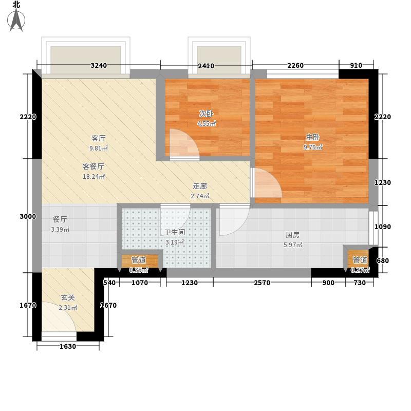 亚太商谷44.47㎡三期6栋标准层5面积4447m户型