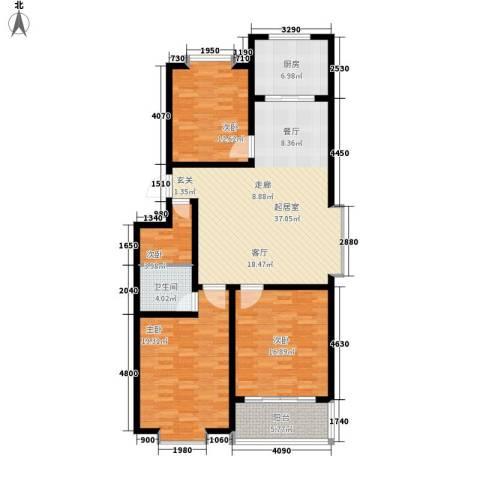 新城小区4室0厅1卫1厨121.00㎡户型图
