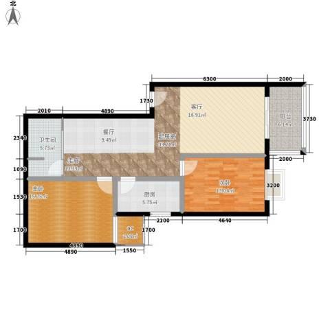 聚福园2室0厅1卫1厨101.00㎡户型图