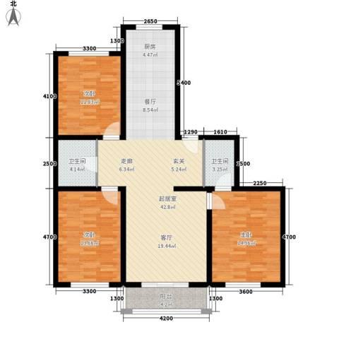 优座华城3室0厅2卫0厨135.00㎡户型图