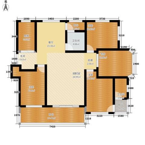 中祥哥德堡4室0厅2卫1厨137.00㎡户型图