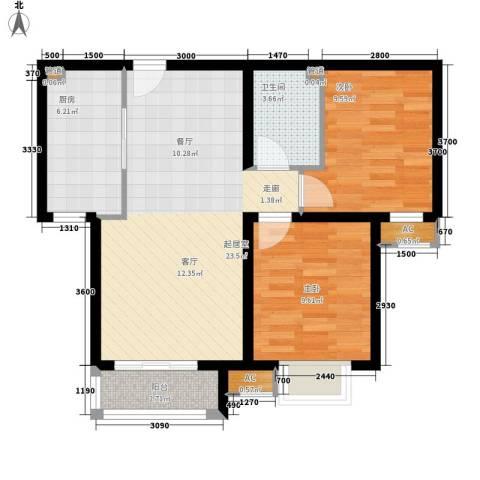 民政小区2室0厅1卫1厨82.00㎡户型图