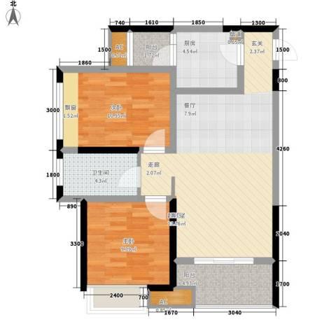 阳光・西雅图2室0厅1卫1厨93.00㎡户型图