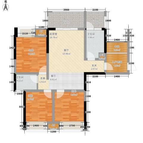 阳光・西雅图3室0厅2卫0厨119.00㎡户型图