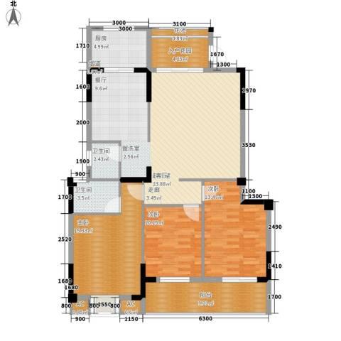 水岸新城3室0厅2卫1厨149.00㎡户型图