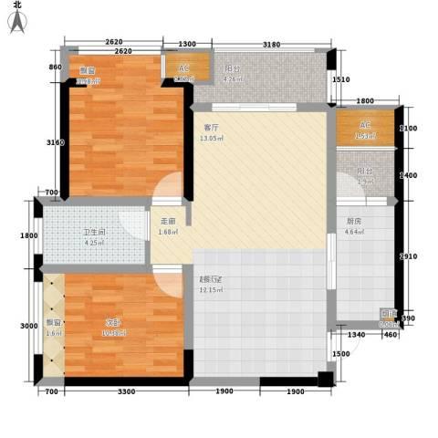 阳光・西雅图2室0厅1卫1厨95.00㎡户型图