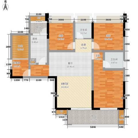 阳光・西雅图3室0厅2卫1厨151.00㎡户型图