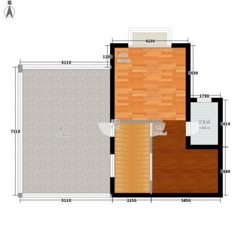尚高境界1室0厅1卫0厨101.00㎡户型图