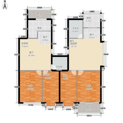 亨泰龙海山庄4室0厅2卫2厨158.32㎡户型图