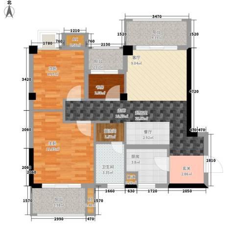 招商假日3653室0厅1卫1厨99.00㎡户型图