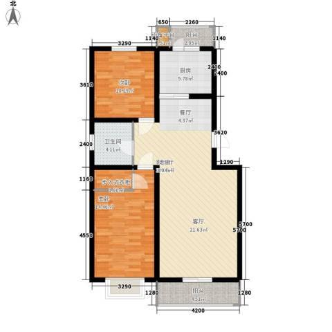 海建里2室1厅1卫1厨111.00㎡户型图