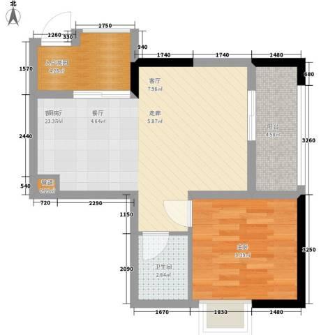 荣升部落格1室1厅1卫0厨45.00㎡户型图