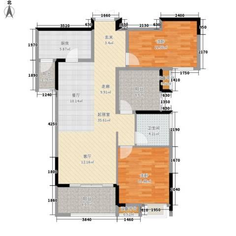 角美万达广场2室0厅1卫1厨95.00㎡户型图