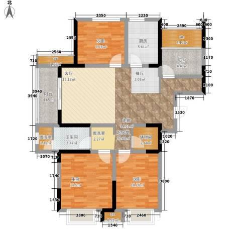 祥源城3室0厅1卫1厨123.00㎡户型图