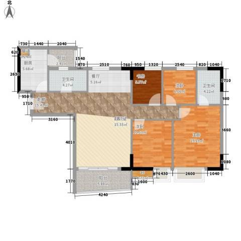 英豪花园4室0厅2卫1厨108.00㎡户型图