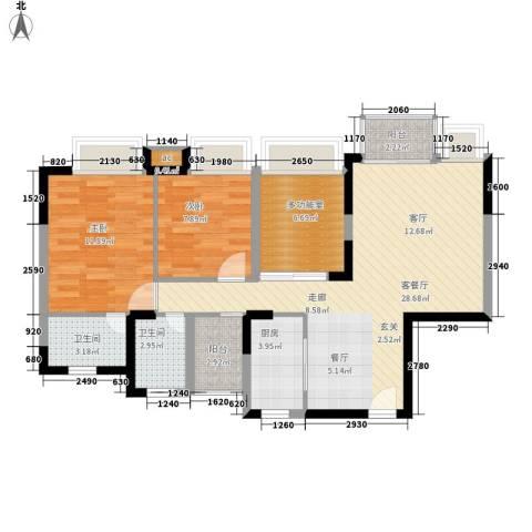 新世纪亦居别墅2室1厅2卫1厨475.00㎡户型图