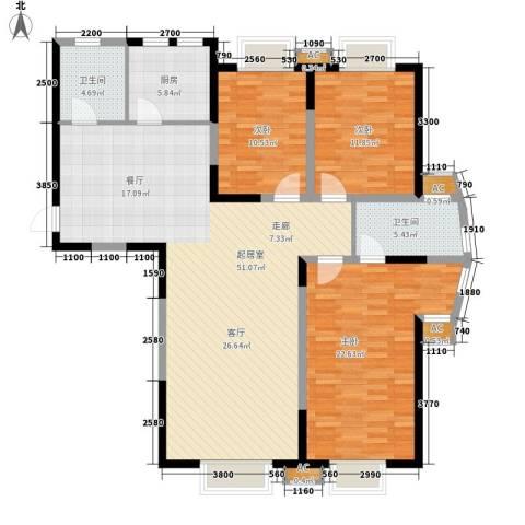 华侨御景湾3室0厅2卫1厨140.00㎡户型图