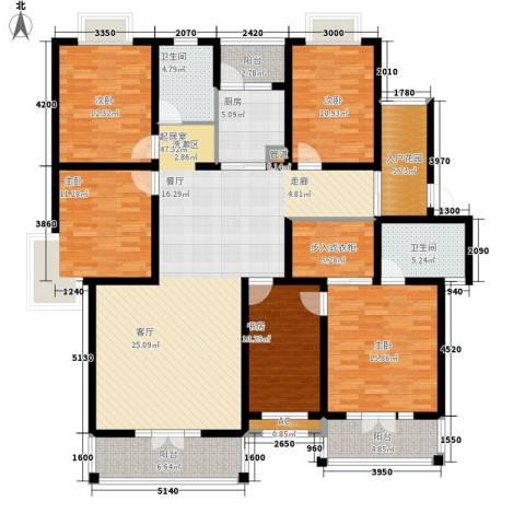 金色华府5室0厅2卫1厨173.00㎡户型图