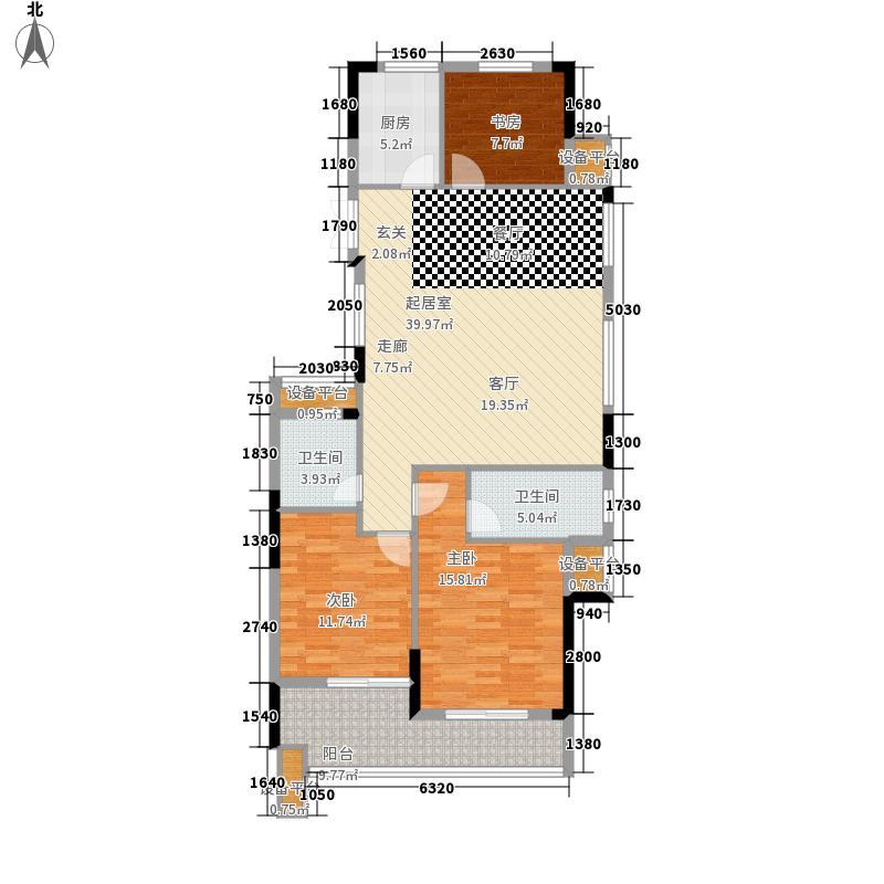 罗马都市139.00㎡118#01单元3室户型
