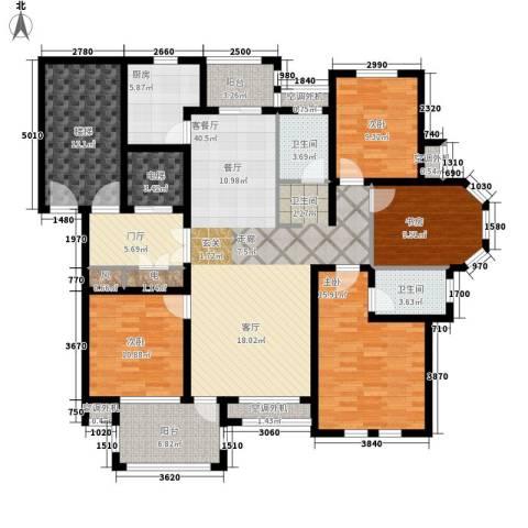 东方世纪城4室1厅2卫1厨198.00㎡户型图