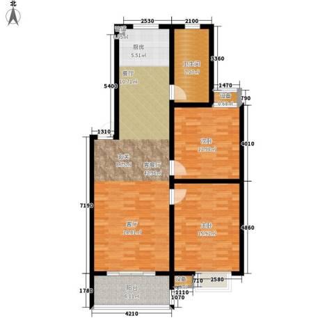 天泽水岸2室1厅1卫0厨95.00㎡户型图