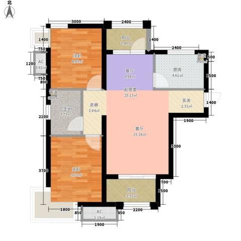 大兴家苑2室0厅1卫1厨87.00㎡户型图