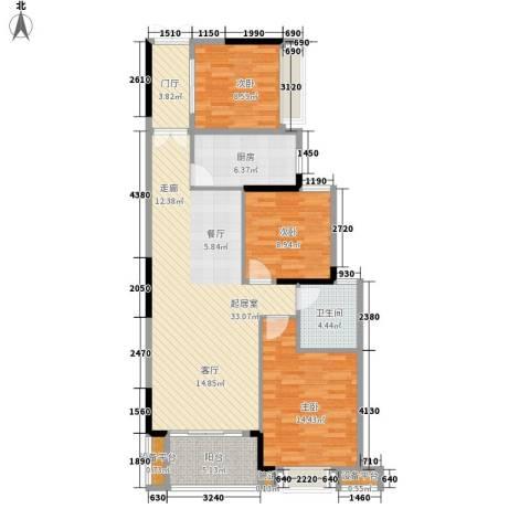 角美万达广场3室0厅1卫1厨97.00㎡户型图