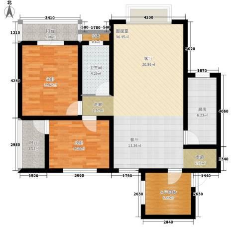 尚高境界2室0厅1卫1厨120.00㎡户型图
