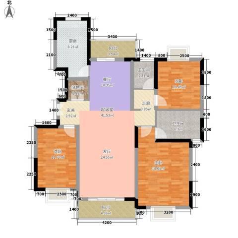 大兴家苑3室0厅2卫1厨156.00㎡户型图
