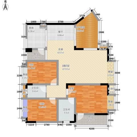 锦绣江山3室0厅2卫1厨145.00㎡户型图
