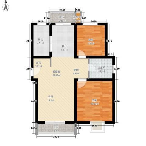 南辛东街宿舍2室0厅1卫1厨77.00㎡户型图
