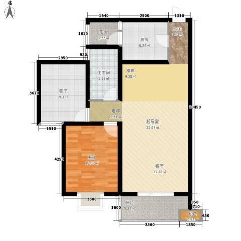 尚高境界1室1厅1卫1厨111.00㎡户型图