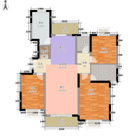 大兴家苑3室0厅2卫1厨158.00㎡户型图