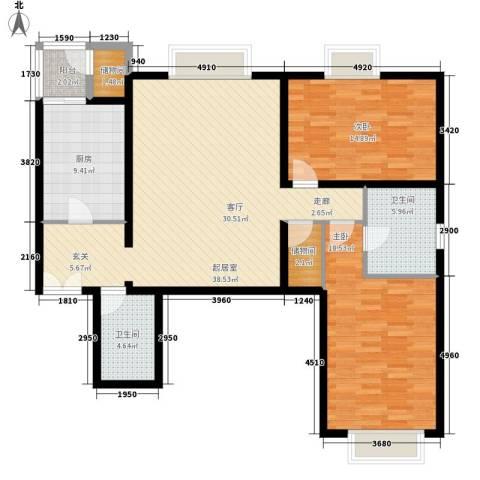时代芳群2室0厅2卫1厨138.00㎡户型图
