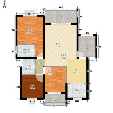 尚高境界3室1厅2卫1厨125.00㎡户型图