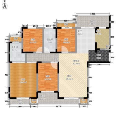 建业凯旋广场4室1厅2卫0厨187.00㎡户型图