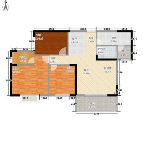 沃邦菁华源3室0厅2卫1厨116.00㎡户型图