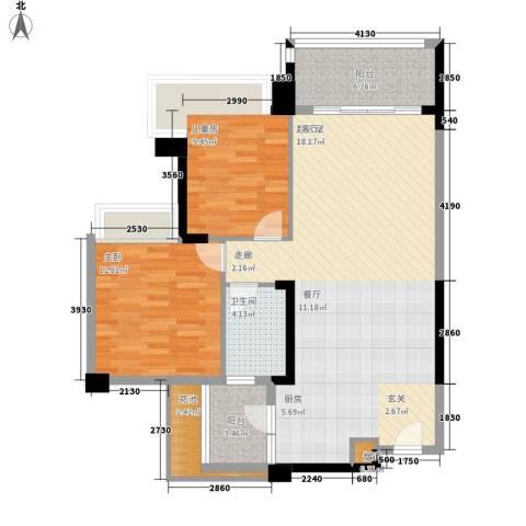 中澳滨河湾2室0厅1卫0厨88.00㎡户型图